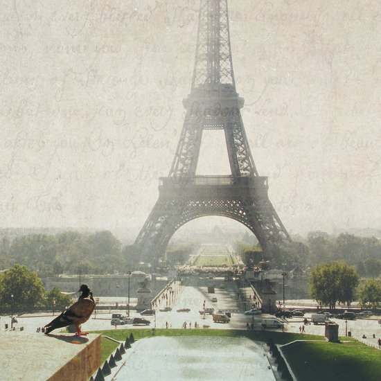 Letters From Trocadero - Paris Art Print