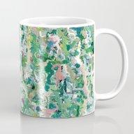 Abstract Green & Blue Mug