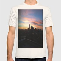 Sunset Skyline Mens Fitted Tee Natural SMALL
