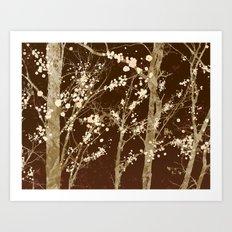 Make it Through (woodland brown edition) Art Print