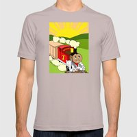 Bonifacio The Train Mens Fitted Tee Cinder SMALL