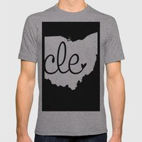 Love Cleveland Mens Fitted Tee Athletic Grey SMALL