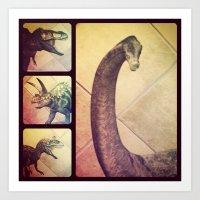 Dino Yearbook 1 Art Print