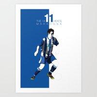 The Hillheads Maradona Art Print