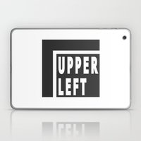 Upperleft Gray Laptop & iPad Skin