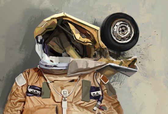 Motor head Art Print
