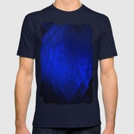 Blue Smoke, Fractal Abst… Mens Fitted Tee Navy LARGE