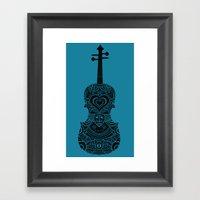 Analog Zine - Fiddle Framed Art Print