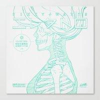 Sketch-Electro-B Canvas Print