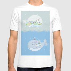 Fantastic Fish SMALL White Mens Fitted Tee