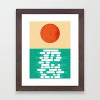 Sun over the sea Framed Art Print