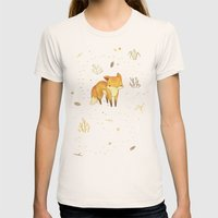 Lonely Winter Fox Womens Fitted Tee Natural SMALL