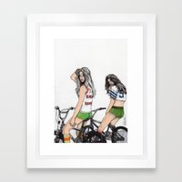 SKATER GIRLS - PART 2 - THE GIRLS Framed Art Print