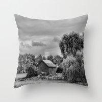 Down On The Farm Black A… Throw Pillow