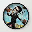 Superheroes SF - For the love of Coffee Wall Clock