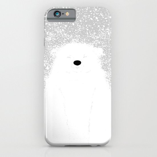 Its A Polar Bear Blinking In A Blizzard iPhone & iPod Case
