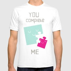 You Complete Me White SMALL Mens Fitted Tee