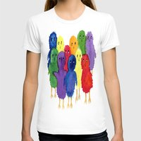 Easter Chicks Womens Fitted Tee White SMALL