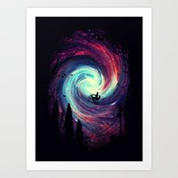 adventure Art Prints featuring Adventure Awaits by nicebleed
