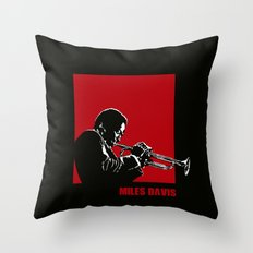 MILES / DAVIS [A Kind of Red][by felixx / 2016] Throw Pillow