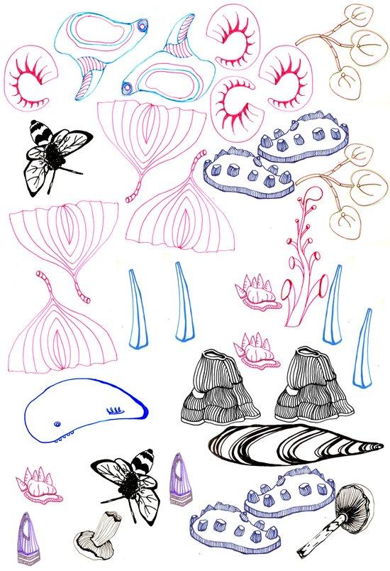 Bits & Pieces Art Print