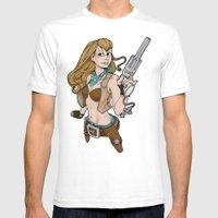 Sassy Gunslinger Girl Mens Fitted Tee White SMALL