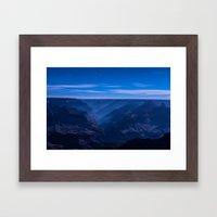 Moonlit Canyon Framed Art Print