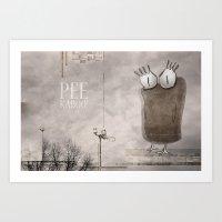 Peekaboo! Art Print