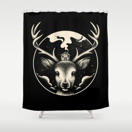 Shower Curtain - Deer Home - Enkel Dika