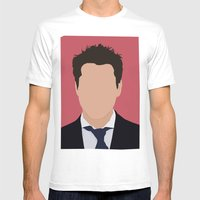 Robert Downey Jr. Digita… Mens Fitted Tee White SMALL
