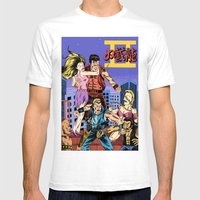 Double Dragon II Mens Fitted Tee White SMALL