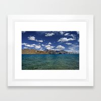 Evening Blues...Pangong Lake Framed Art Print
