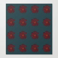 Maroon Flower Repeat Canvas Print