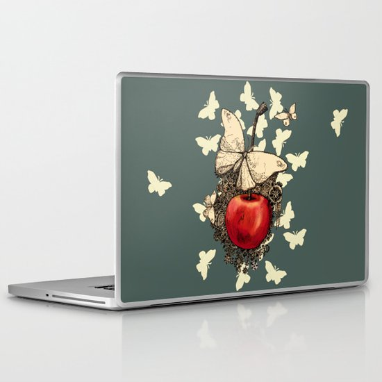 Cherry Butterflies Laptop & iPad Skin