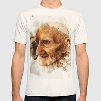 The Old man Mens Fitted Tee Natural SMALL