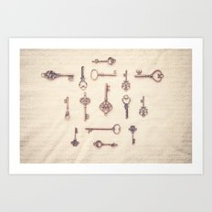 Keys to My Heart Art Print