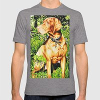 Hungarian Vizsla Mens Fitted Tee Tri-Grey SMALL