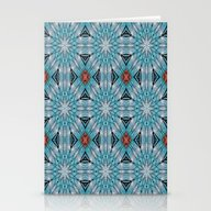 Stationery Cards featuring Snowflakes Mandala by ArtLovePassion