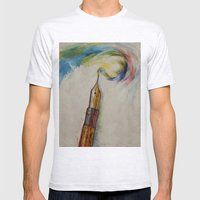 Fountain Pen Mens Fitted Tee Ash Grey SMALL