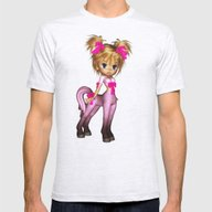 Elf Pony Pinkie Pink Mens Fitted Tee Ash Grey SMALL