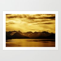 The Bay And Mountains Ne… Art Print
