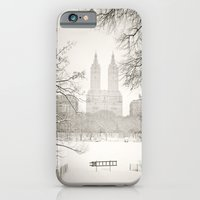 iPhone Cases featuring Winter - Central Park - New York City by Vivienne Gucwa