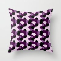 Purple Camo Pattern Throw Pillow
