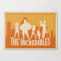The Incredibles Movie Po… Canvas Print