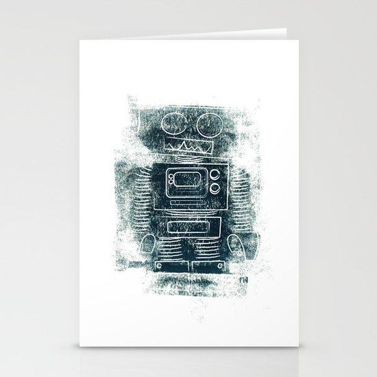 Robot Robot Stationery Card