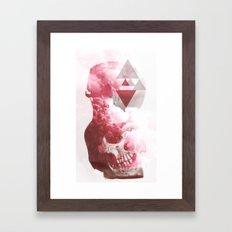 Skull Smoke Framed Art Print