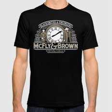 McFly & Brown Blacksmiths Mens Fitted Tee Black SMALL