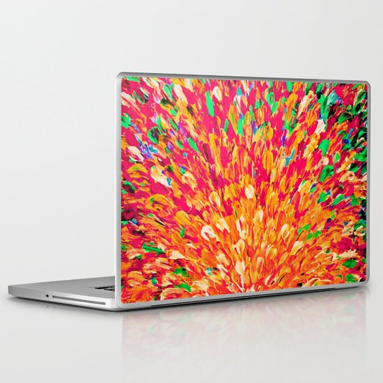 NEON SPLASH - WOW Intense Dash of Cheerful Color, Bold Water Waves Nature Lovers Modern Abstract  Laptop & iPad Skin