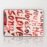 words of a love song Laptop & iPad Skin
