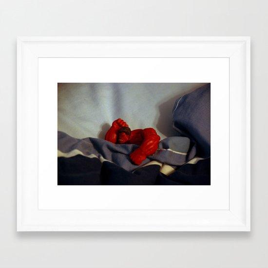 Red Hulk Go Nigh Night Framed Art Print
